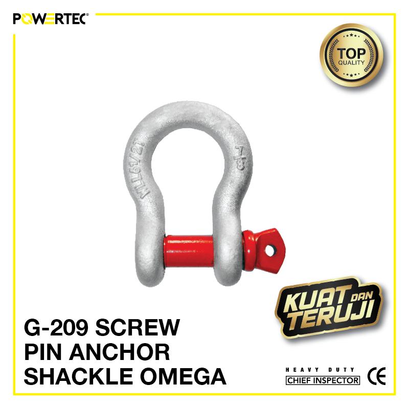 Jual Segel G-209 Screw Pin Anchor Shackle Omega