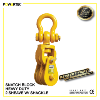 Jual Pulley Block Snatch Block Heavy Duty Double Sheave Shackle
