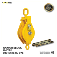 Jual Pulley Block Snatch Block K-Type Double Sheave eye