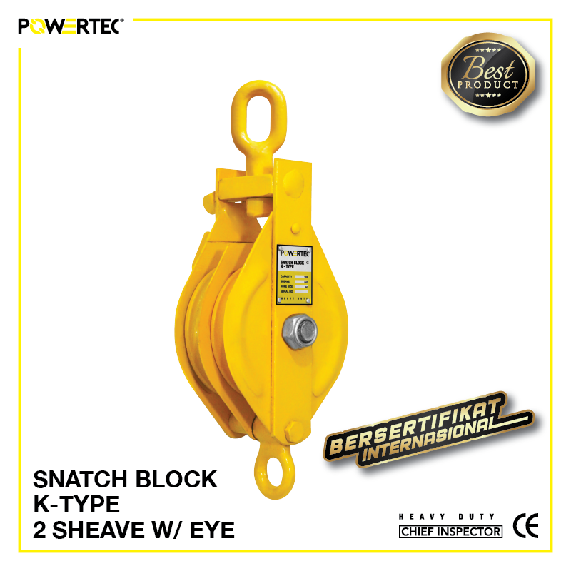 Jual Pulley Block Snatch Block K-Type Double Sheave eye
