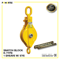 Jual Pulley Block Snatch Block K-Type Single Sheave Eye