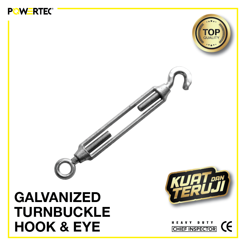 Jual Galvanized Turnbuckle Hook & Eye Jarum Keras Span Sekrup