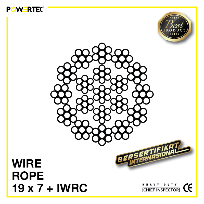 Jual Kawat Seling Wire Rope 19x7 IWRC