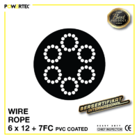 Jual Kawat Seling Wire Rope 6x12 7FC PVC Coated