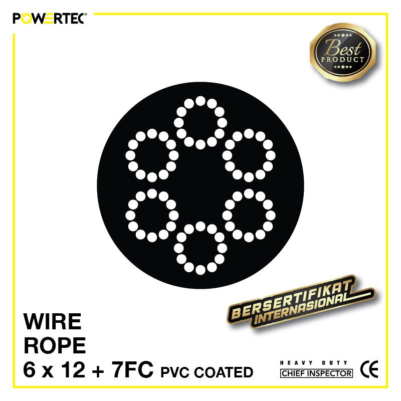 Jual Kawat Seling Wire Rope 6x12 7FC PVC Coated