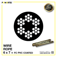 Jual Kawat Seling Wire Rope 6x7 FC PVC Coated
