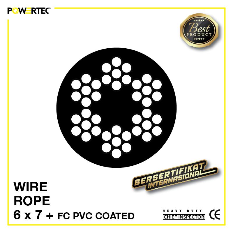 Jual Kawat Seling Wire Rope 6x7 FC PVC Coated