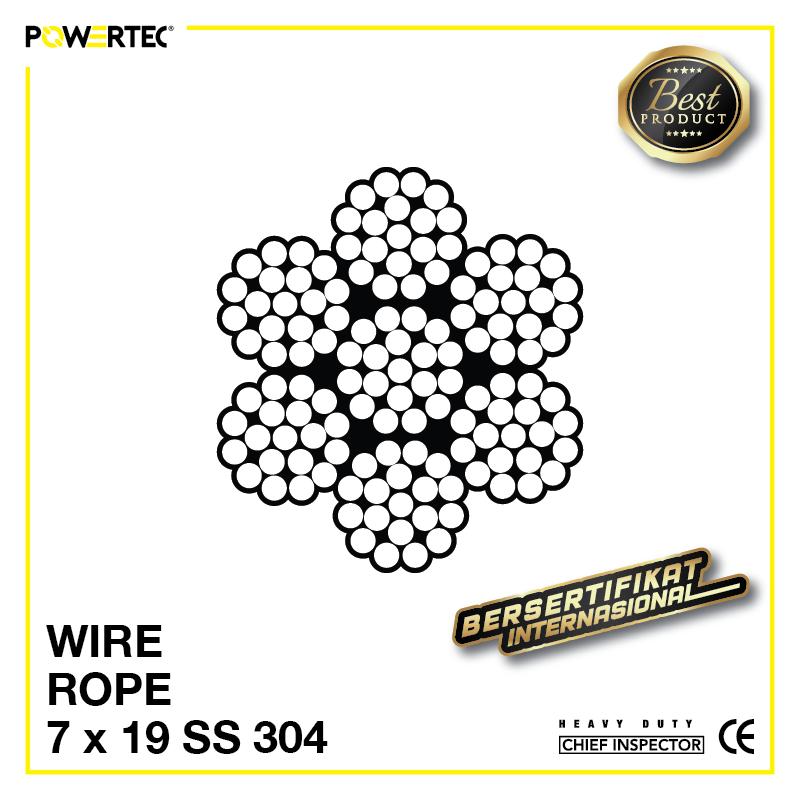 Jual Kawat Seling Wire Rope 7x19 Stainless Steel 304