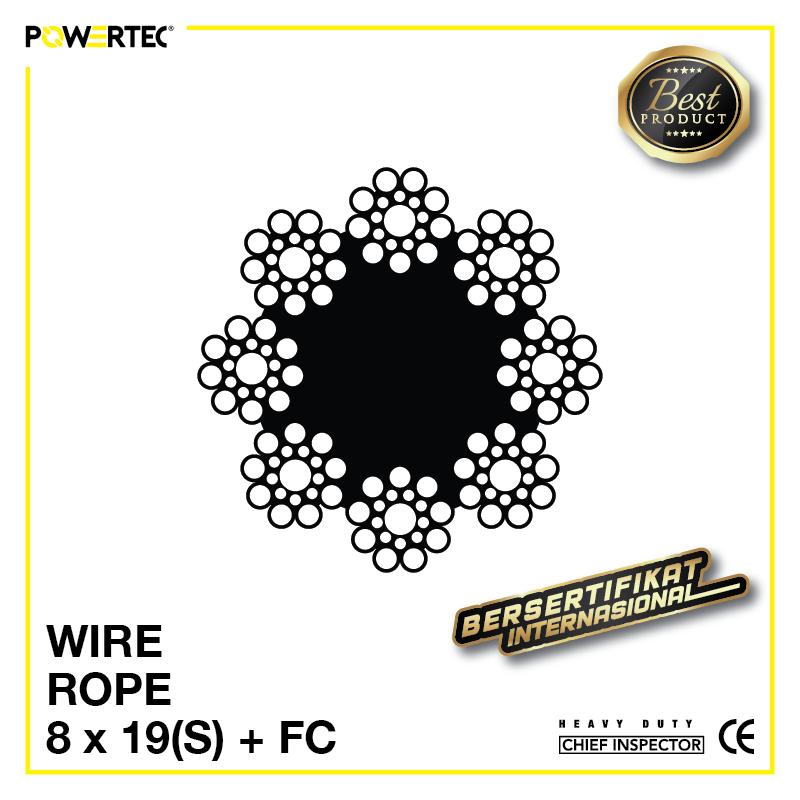 Jual Kawat Seling Wire Rope 8x19(S) FC