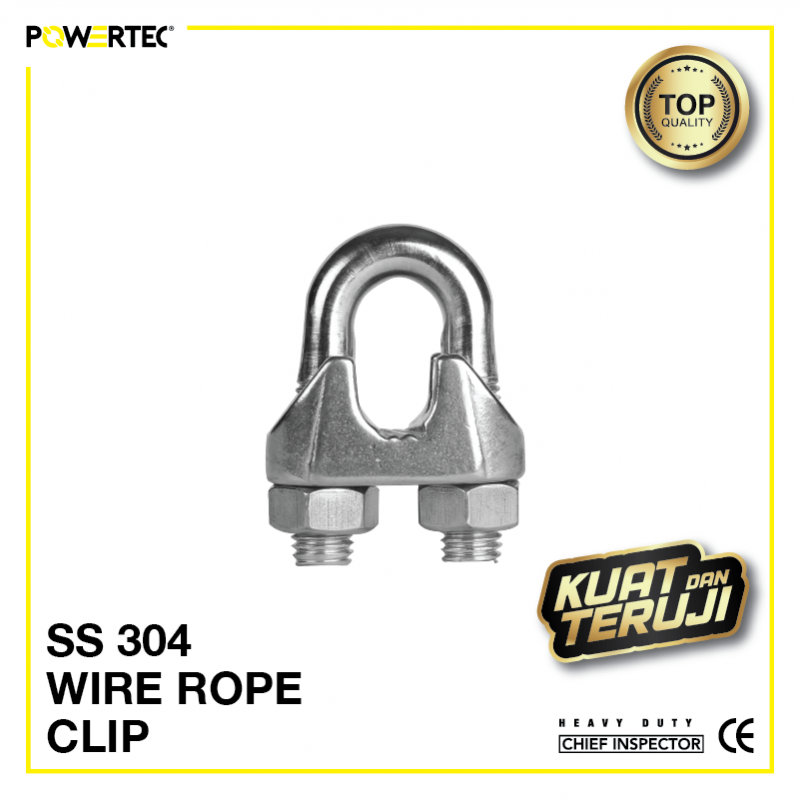 Jual Wire Rope Clip Stainless steel 304