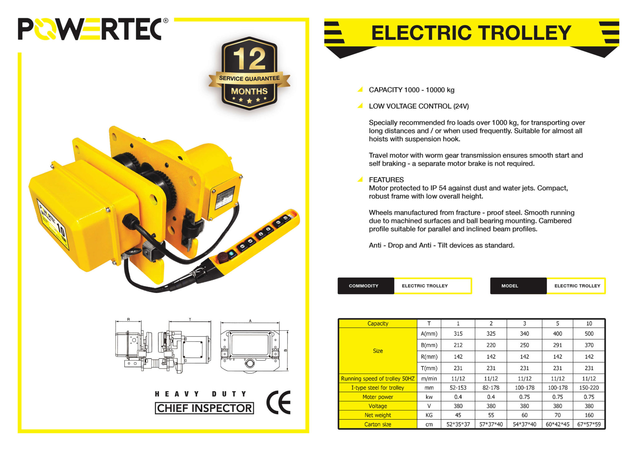 POWERTEC ELECTRIC TROLLEY BROCHURE