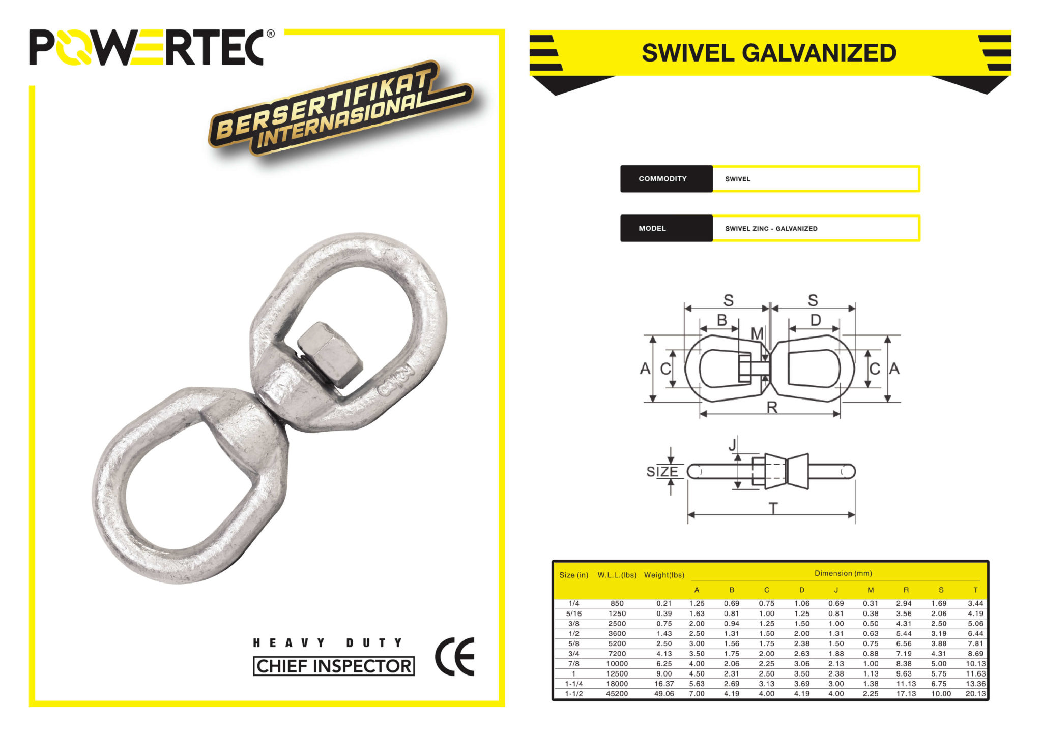 POWERTEC SWIVEL GALVANIZED BROCHURE