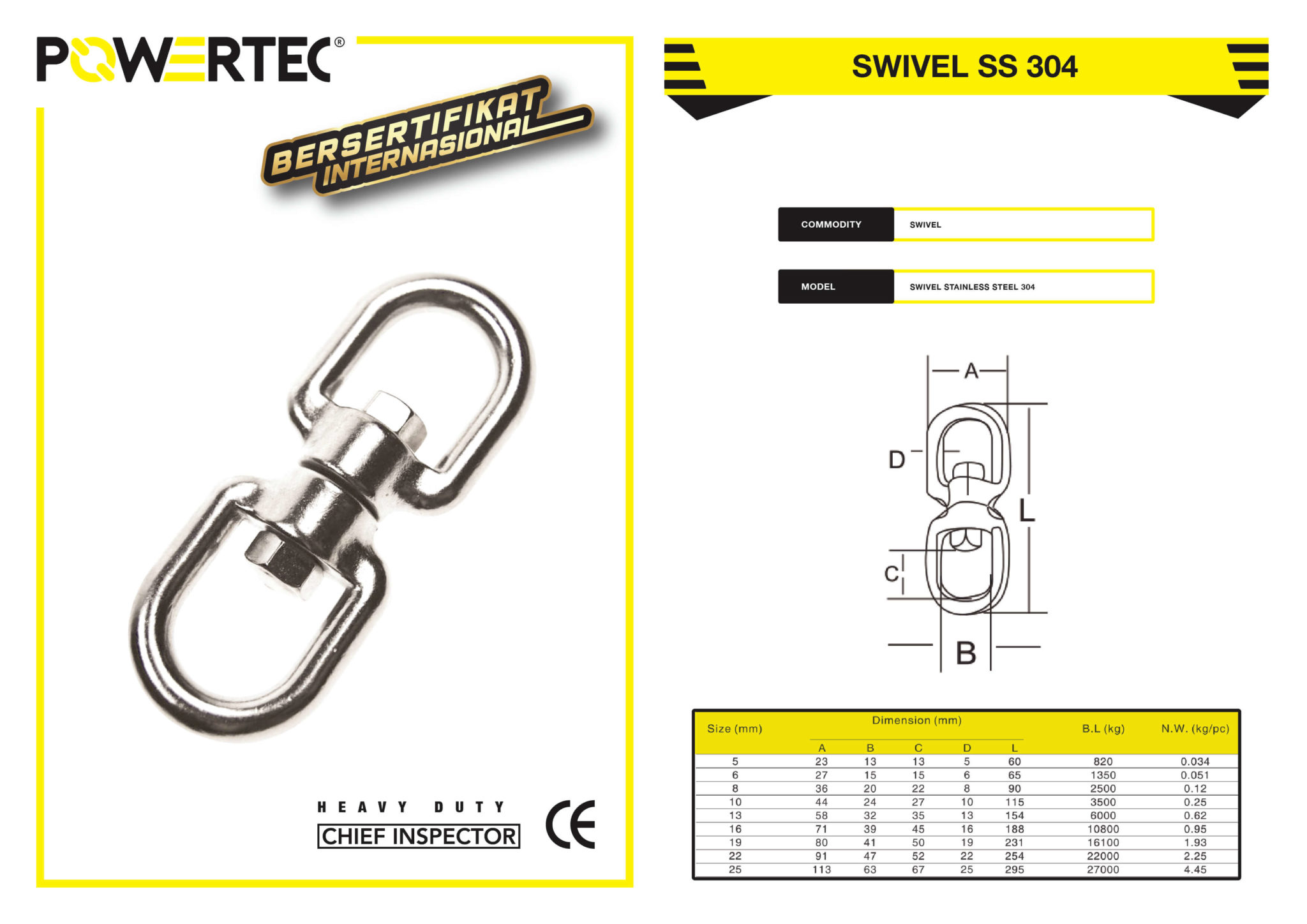 POWERTEC SWIVEL SS 304 BROCHURE